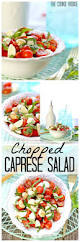 chopped caprese salad is the perfect easy side dish for any bbq