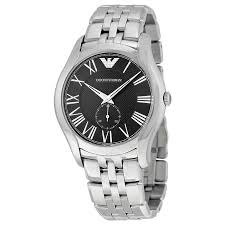 armani watches bracelet images Emporio armani black dial stainless steel bracelet men 39 s watch jpg