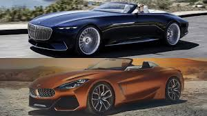 maybach sports car 2018 mercedes vision maybach 6 vs bmw z4 concept youtube