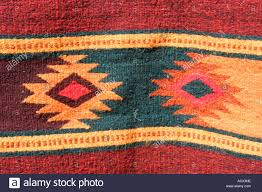 Stylerug by Zapotec Style Rug Teotitlan Del Valle Village Oaxaca Mexico Stock
