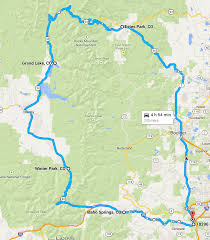 Estes Park Colorado Map by Five Big Colorado Loops Contributing To The Problem