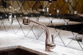 mirror tile backsplash kitchen antique mirror subway tile backsplash contemporary kitchen