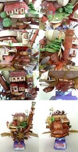 Howl s Moving Castle Fun 3d Metal Diy Miniature Model Kits Puzzle