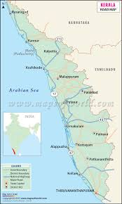 Kerala India Map by Road Map