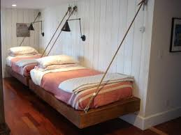 Best  Suspended Bed Ideas On Pinterest Homemade Shelf - Suspended bunk beds