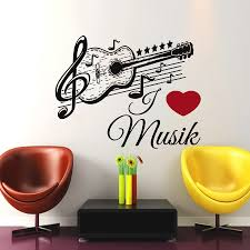 popular music wall stickers music wall decals home decor buy cheap mm16 german music guitar wall sticker black removable art home decor vinyl musical note wall decal