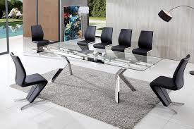 8 Chairs Dining Set Extending Glass Dining Table And 8 Chairs 5368
