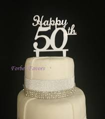 50th cake topper happy 50th birthday acrylic cake topper wedding many colors