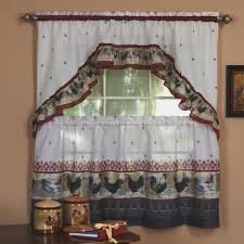 Rooster Swag Curtains by Fresh Rooster Kitchen Curtains Taste