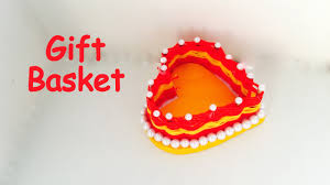 Best Gift Basket Diy How To Make Heart Gift Basket For Diwali Paper Craft