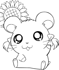 Coloriage Petit hamster Hamtaro à imprimer