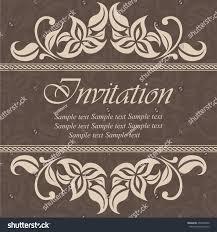 Vintage Wedding Invitation Cards Vintage Wedding Invitation Card Stock Vector 255204052 Shutterstock