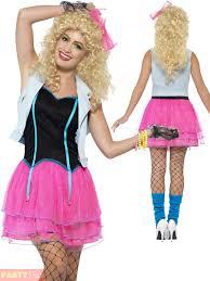 ladies 80s costume 1980s neon roller disco pop star fancy dress