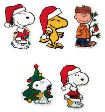 Snoopy Christmas Window Decorations by Gel Christmas U0026 Winter Window Decorations Ebay