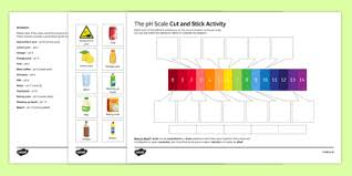 Ph Worksheet The Ph Scale Cut And Stick Activity Sheet Worksheet Plenary