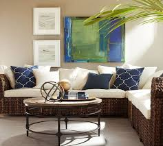 Seagrass Sectional Sofa Build Your Own Seagrass Roll Arm Sectional Components Pottery Barn