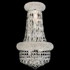 Crystal Wall Sconce by Schonbek Renaissance Rock Crystal 14 Inch Wide Wall Sconce