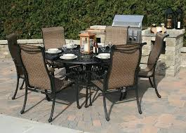Patio Table And 6 Chairs Amazing Glass Patio Table Set Or Patio Fantastic Glass Top Outdoor