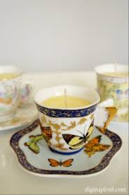 tea cup candle diy scented teacup candle diy inspired
