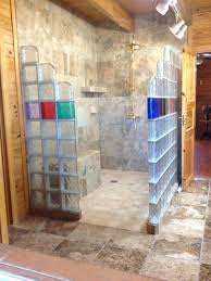 glass block designs for bathrooms colored glass block blocks crafts shower wall designs with door