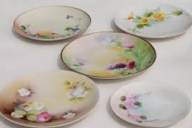 vintage shabby chic china antique porcelain plates w hand