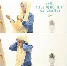 tutorial hijab noura tutorial hijab pakai kalung statement ala ussiy personel noura