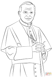 pope john paul ii coloring page free printable coloring pages