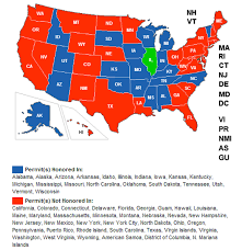 Wisconsin Usa Map by Wisconsin Now Recognizes The Illinois License To Carry U2014 Illinois