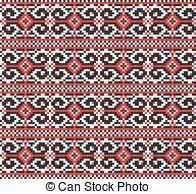 ukrainian ornaments vector illustration of ukrainian folk seamless pattern vectors
