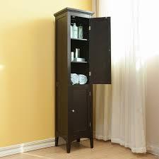 Tall Shoe Cabinet With Doors by Bayfield Dark Espresso 2 Door Linen Tower Overstockcom Shopping