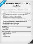 gallery of resume templates maintenance technician maintenance