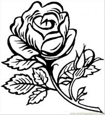 printable coloring pages of pretty flowers beautiful big rose coloring page free flowers coloring pages