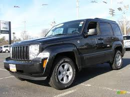 black jeep liberty 2009 brilliant black crystal pearl jeep liberty sport 4x4