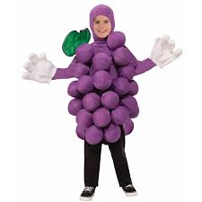 Buy Glam Red Minnie Costume by Buy Purple Grape Costume For Kids