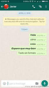 hola imagenes whatsapp cómo cambiar el formato de letra en whatsapp android jefe