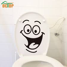 online get cheap wall decorations stickers aliexpress com dctop removable vinyl diy big mouth toilet wall stickers washroom decoration waterproof home decor wall art