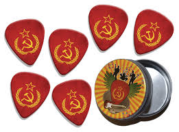 Sickle Russian Flag Printed Guitar Picks Shop Products Gd Picks Range Picks