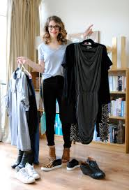 real life capsule wardrobe example for spring apartment therapy