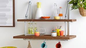 Wall Shelves Lowes Quick Connect Pipe Frame Wall Shelf