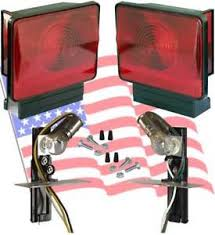 utility trailer light bulbs boat utility trailer submersible tail lights dry launch 702b
