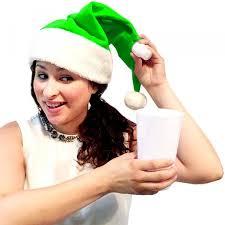 wearable santa hat flask