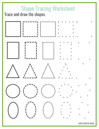 shapes worksheets for kids allfreepapercrafts com