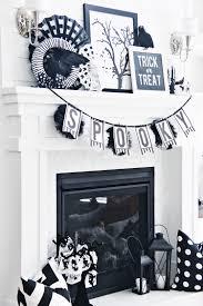 halloween garlands 70 ideas for elegant black and white halloween decor digsdigs