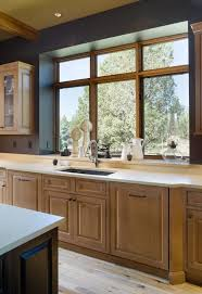 rustic kitchen faucets out window spaces rustic with transitional kitchen faucets