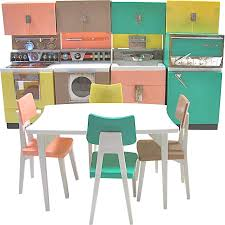 deluxe reading dream kitchen set fits barbie dolls vintage 1961