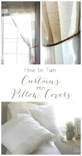 Old Curtains How To Make Pillow Covers From Curtains Love Create Celebrate