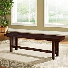 amazon com we furniture solid wood dark oak dining bench kitchen