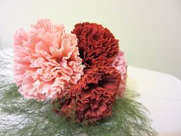 how to make tissue paper flowers origami carnations lesson 14