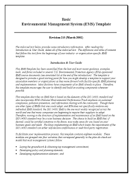 ems template introduction u0026toc united states environmental