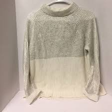 chico clothing chico s chico silver and white glitter sweater from s